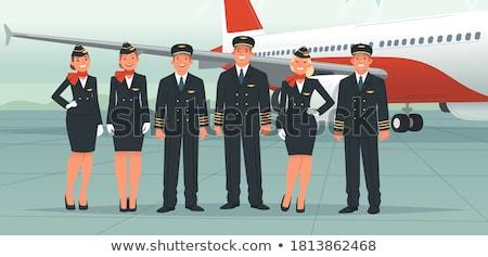 Woman stewardess  standing in airport Stock photo © mcherevan