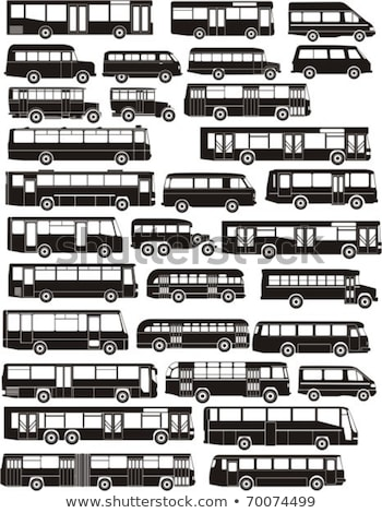 Vector city bus silhouettes set Stock photo © mechanik