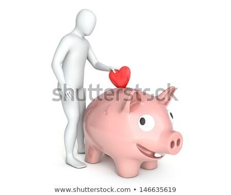 3d · personas · corazón · mano · mujer · amor · fondo - foto stock © cherezoff
