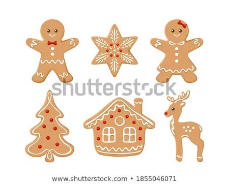 ジンジャーブレッド ツリー クリスマス クッキー 白 休日 ストックフォト © MKucova