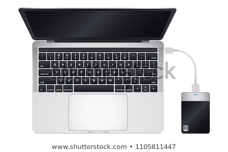 オープン · コンピュータ · 先頭 · 表示 · クローズアップ - ストックフォト © Petkov