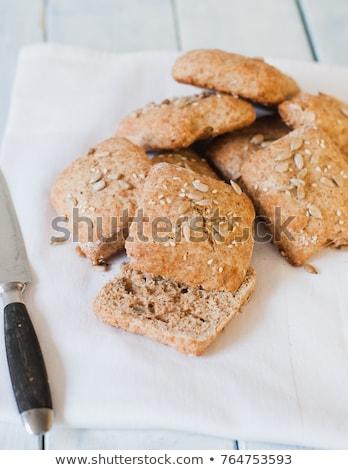 Vers brood zonnebloem witte Stockfoto © pixachi
