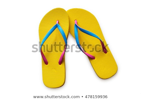 Paar strand slippers paars witte Stockfoto © RuslanOmega