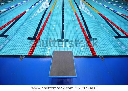 Központ egy vágány kezdet sáv úszómedence Stock fotó © nuiiko