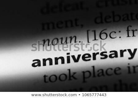 Aniversário texto dicionário definição preto e branco cópia espaço Foto stock © jenbray