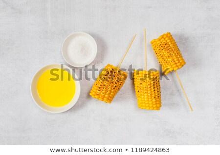 黄色 おいしい トウモロコシ バーベキュー ファーム 生活 ストックフォト © phila54