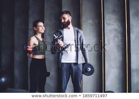 女性 筋骨たくましい体 セクシー 男 ストックフォト © feedough