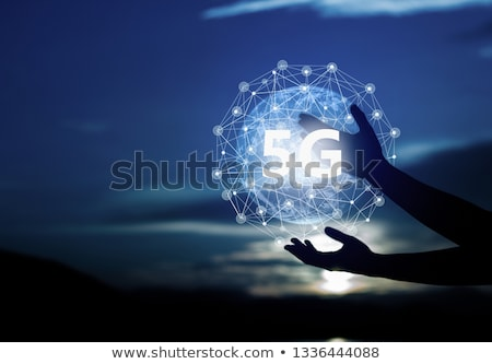 Hands with mobile phone in 4G LTE network Stock photo © stevanovicigor