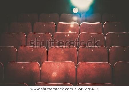 Gol confortabil roşu numere cinema lumina Imagine de stoc © Nejron