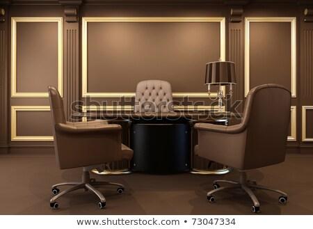 classique bureau int rieur chaises bois travaux photo stock dmytro grankin. Black Bedroom Furniture Sets. Home Design Ideas