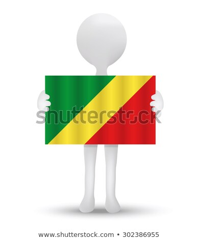 small 3d man holding a French Flag Stock photo © Istanbul2009