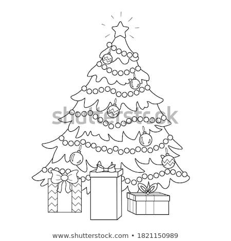 Farbenreich Weihnachten Kugeln grünen Zweig download Stock foto © ElaK