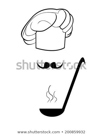 Alkat merőkanál fehér étterem főzés szakács Stock fotó © mayboro