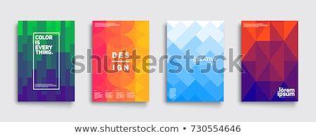 geometrik · üçgen · desen · ayarlamak · renkli · soyut - stok fotoğraf © maxmitzu