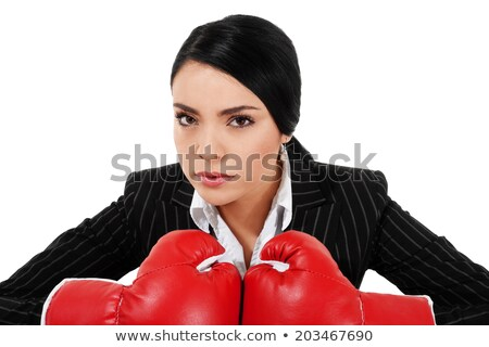 hostile business takeover concept isolated white background Stock photo © leeavison