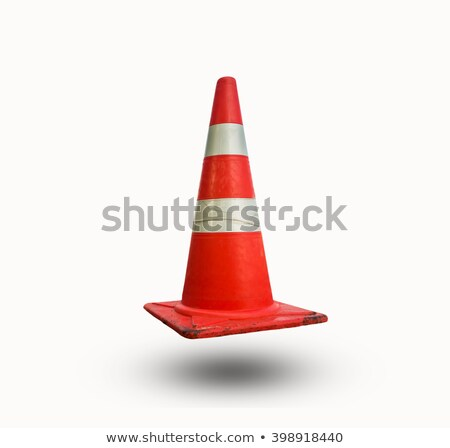 Dirty traffic cone isolated on white Stock photo © Juhku