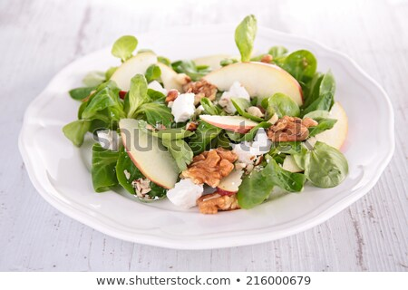 lambs lettuce with applewalnut and cheese stock photo © m-studio