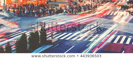 People and traffic crossing the famous Shibuya intersection Stock photo © Melpomene