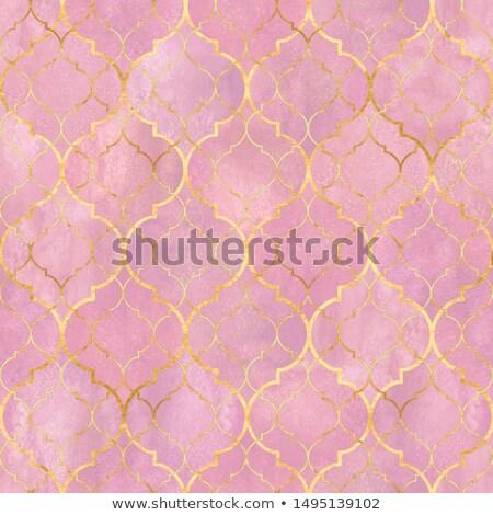 розовый дамаст шаблон лист подобно Сток-фото © arenacreative