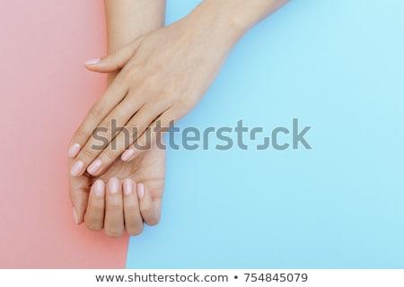 femminile · piedi · pedicure · salone · di · bellezza · macro · shot - foto d'archivio © juniart