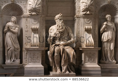 Statue of Moses, Michelangelo, San Pietro in Vincoli, Rome, Italy Stock photo © Dserra1