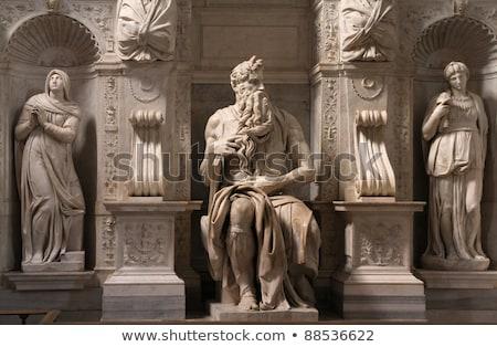 Statue of Moses, Michelangelo, San Pietro in Vincoli, Rome, Italy stock photo © Dserra1