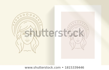 Simple Woman's Face stock photo © Theohrm