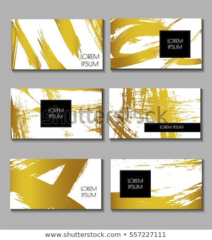 Silhueta dourado elementos separado camadas Foto stock © BibiDesign