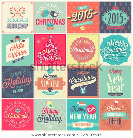 Happy New Year 2015 snowflakes card design Stock photo © cienpies