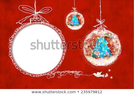 Kids Christmas photoframe Stock photo © marimorena