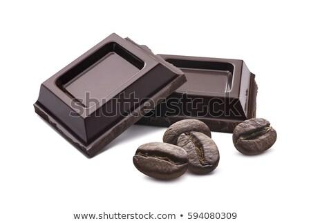 Kávé csokoládé szelet kávé bár tej sötét Stock fotó © Rob_Stark