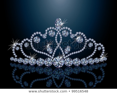 diamond queen crown and heart vector illustration stock photo © carodi