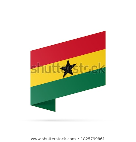 Map on flag button of Republic of Ghana Stock photo © Istanbul2009