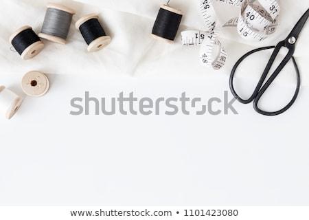 Kleurrijk naaien vingerhoed witte Rood kleuren Stockfoto © erierika