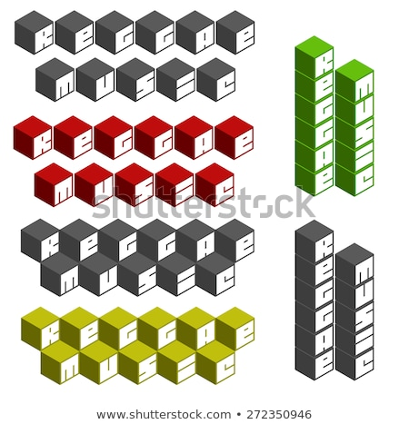 reggae music cubic square fonts in different colors Stock photo © Melvin07