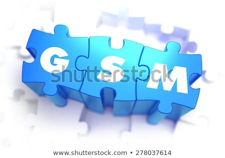 WiFi - White Word on Blue Puzzles. Stock photo © tashatuvango