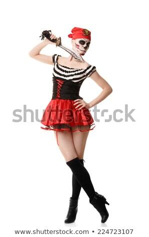 vrouw · piraat · scherp · mes · hand · mode - stockfoto © elnur