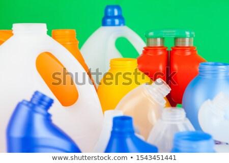 Verde plástico detergente garrafa recipiente líquido Foto stock © dezign56