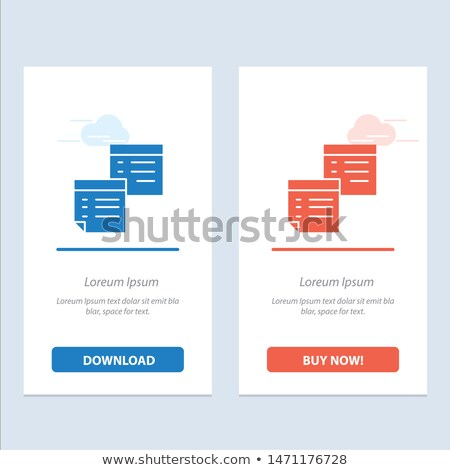download now red sticky notes vector icon design stock photo © rizwanali3d
