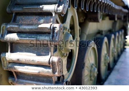 caterpillar of Russian infantry fighting vehicle, closeup shot,  Stock photo © inxti