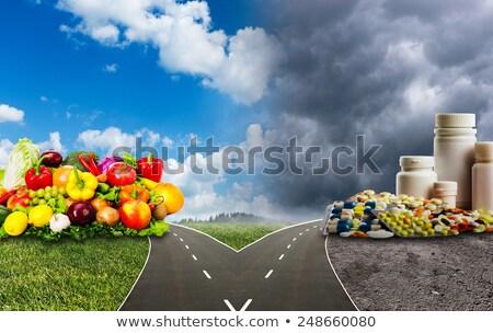 Foto d'archivio: Cibo · sano · soluzione · mangiare · fresche · frutti · verdura