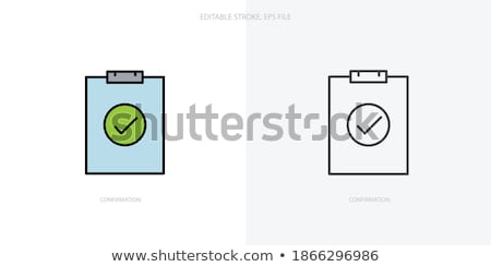 Completed Tasks Icon. Business Concept. Flat Design. Stock photo © WaD