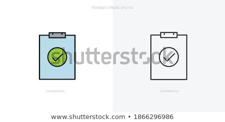 Tarefas ícone negócio projeto isolado ilustração Foto stock © WaD