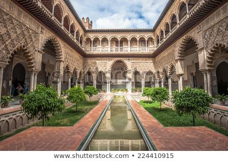 antigo · pormenor · coluna · alhambra · palácio · Espanha - foto stock © vichie81