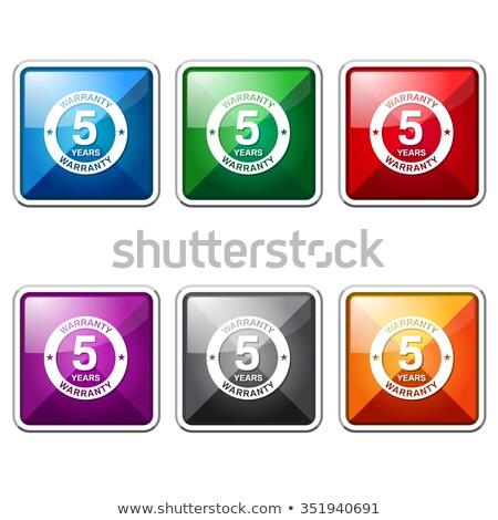 año · garantía · rosa · vector · botón · icono - foto stock © rizwanali3d