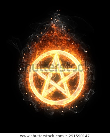 a glowing pentagram stock photo © shawlinmohd