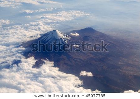 popocatepetl volcano mexico df city aerial view stock photo © lunamarina