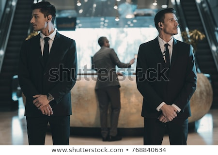 Businessman with two bodyguards Stock photo © Paha_L