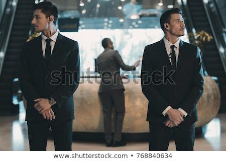 jefe · seguridad · oficial · aislado · blanco - foto stock © paha_l