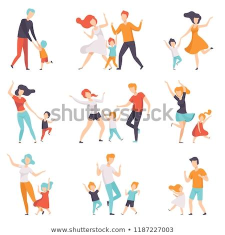 Stock photo: dance family vector